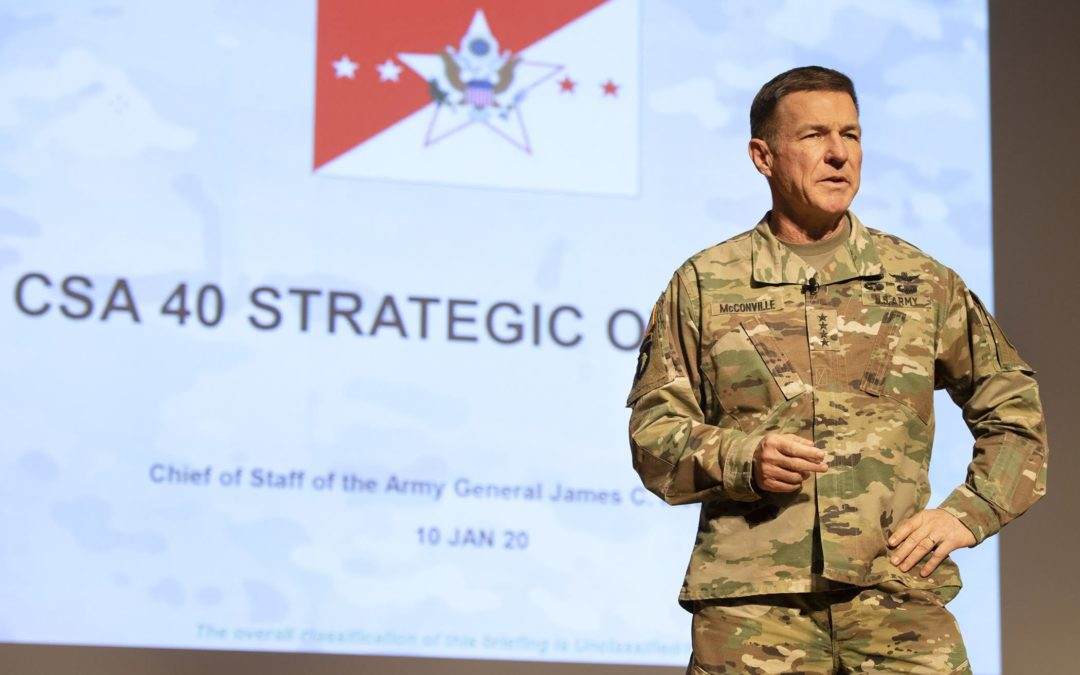 McConville Says Quality of Life Important to Army Transformation