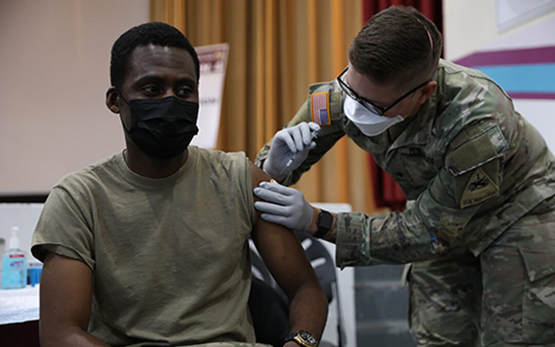 Military Hits 70% Vax Rate, Short of Shot Target